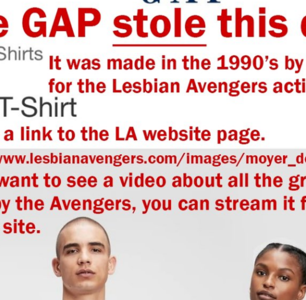 Did the Gap Steal a Lesbian Artist's Design and Put It on a Pride Shirt?