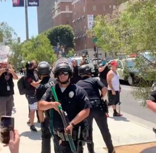 At Wi Spa, a Protest For Trans Rights was Declared Unlawful by LAPD