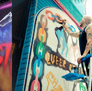 """These """"Fear Street"""" Murals Celebrate Queer Horror in the Best Way"""
