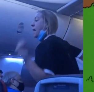 Airplane Karen Rails Against the Disney Homosexual Agenda on Dallas Flight