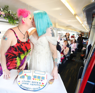 This Queer Train Wedding is Guaranteed to Brighten Your Day