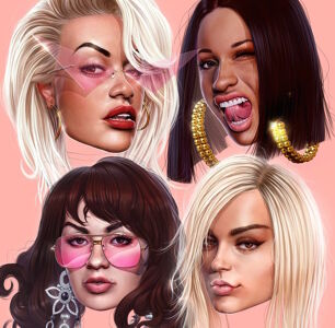 Rita Ora, Cardi B, Charli XCX, and Bebe Rexha Explore Bisexual Themes in New Aptly Titled Song 'Girls'