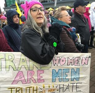That Transphobic Sign At The Women's March Highlights White Feminism's Racism