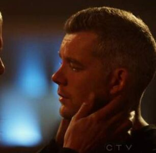 Wentworth Miller & Russell Tovey Share a Super Gay Kiss on 'The Flash'