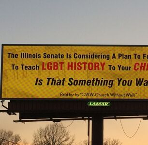 Billboard Warns Illinois Lawmakers Are 'Forcing' Schools to Teach LGBTQ History