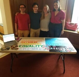 The Cornell Law Lambda Club Protests Trump's Trans Military Ban On Their Campus