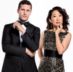 Why Expectations for Sandra Oh and Andy Samberg's Golden Globes Hosting Gig Are Sky-High